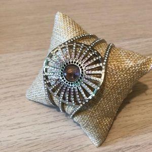 Swarovski Jewelry - Swarovski Cuff Bracelet Rhodium Crystal & Amethyst